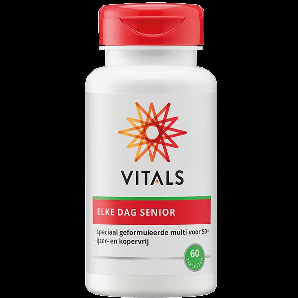 Elke Dag Senior 60 tabletten multivitaminen mineralen natuurlijk Vitals