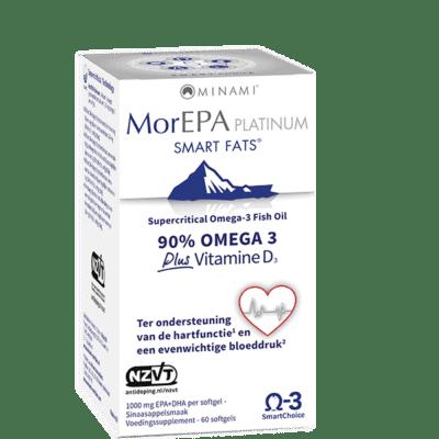 MorEPA Platinum 60 softgels visoliepreparaat EPA DHA D3 Vitals